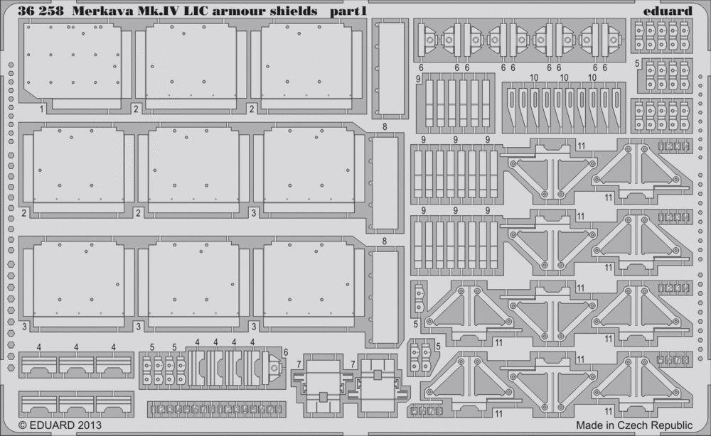 Eduard Merkava Mk.IV LIC armour shields (Academy)