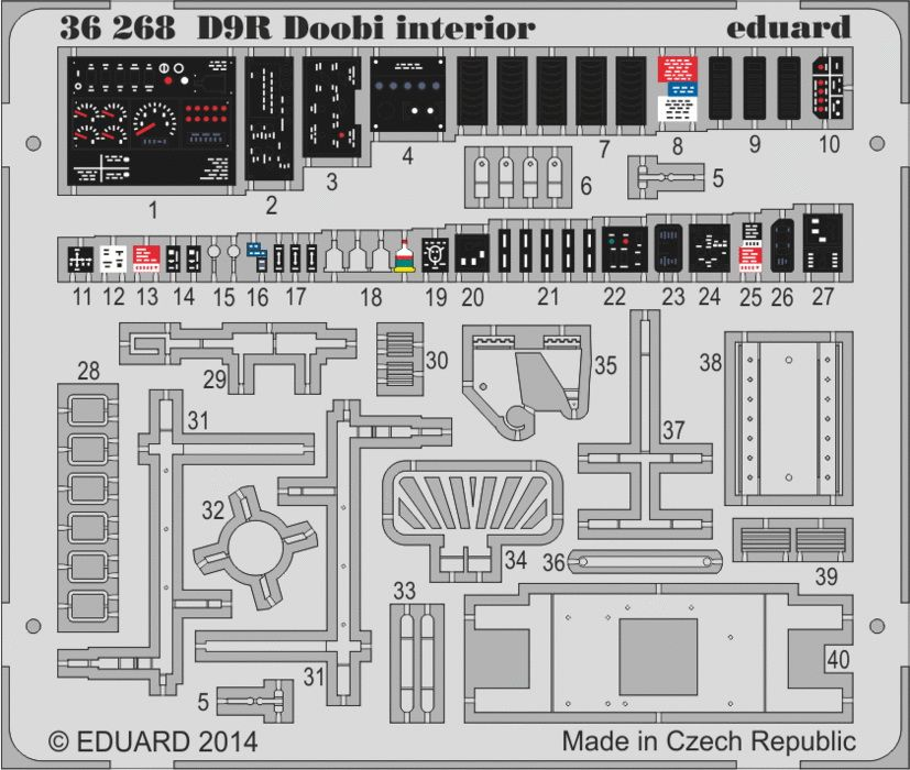 Eduard Doobi Bulldozer interior - colour (Meng)
