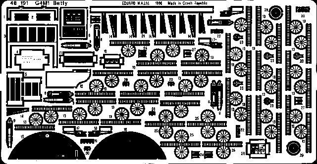 Eduard G4M1 Betty type 11 (Tamiya)