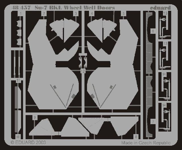 Eduard Su-7BKL wheel well doors (Kopro)