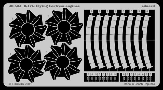 Eduard B-17G engines (Revell)