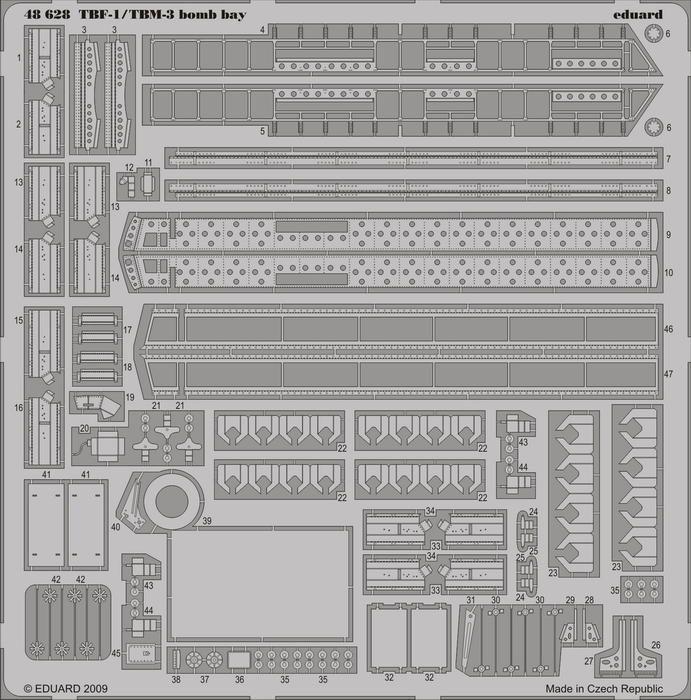 Eduard TBF-1/TBM-3 bomb bay (Hobby Boss)