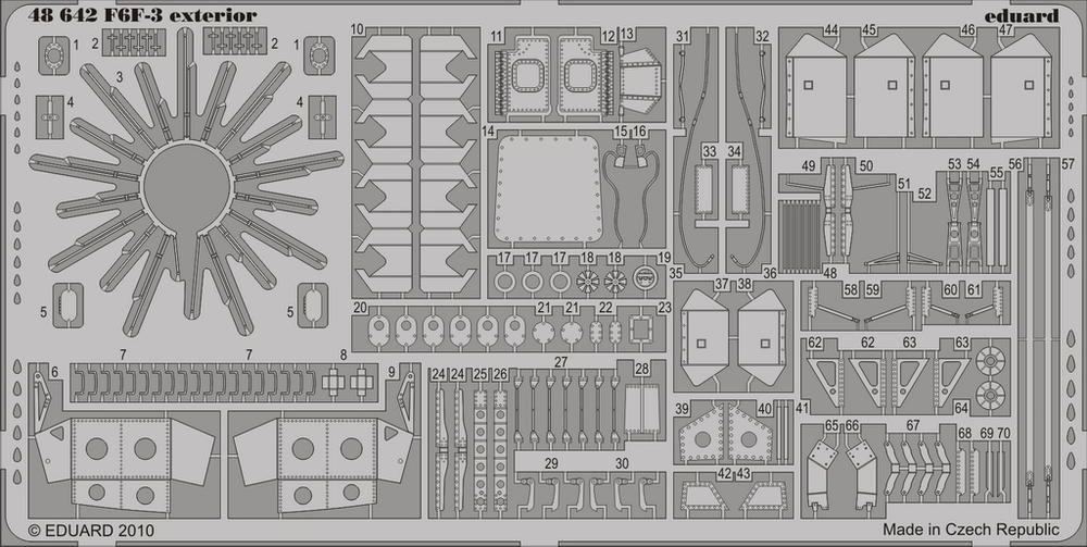 Eduard F6F-3 exterior (Hobby Boss)