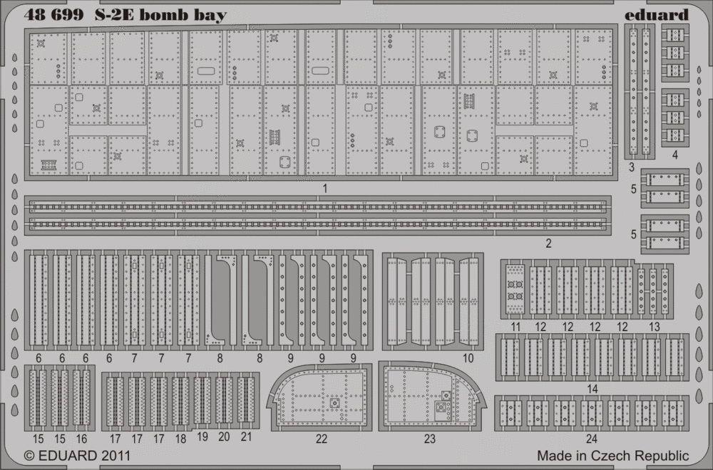 Eduard S-2E bomb bay (Kinetic)