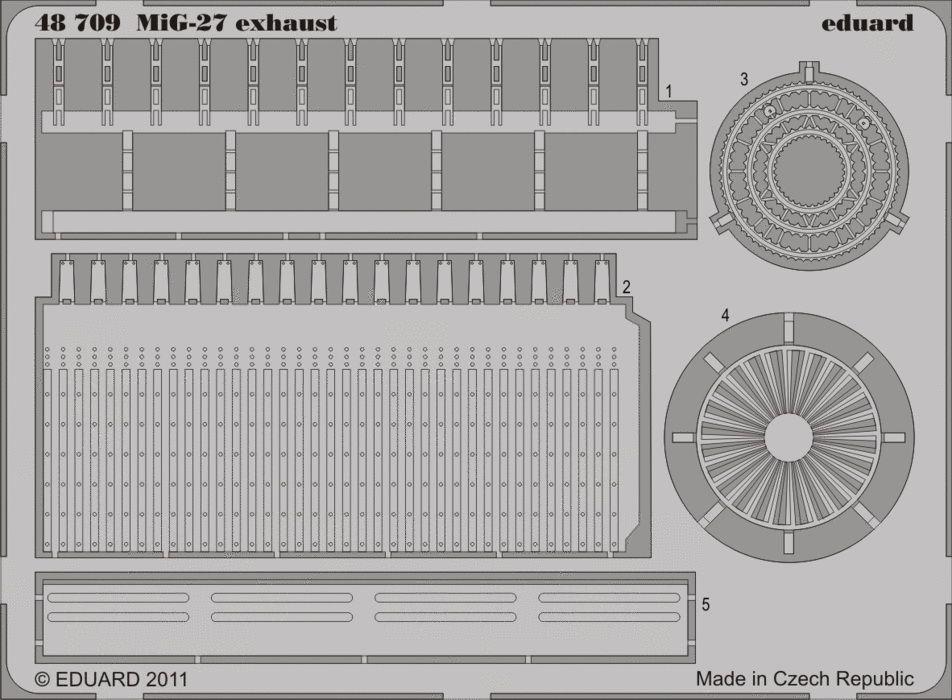 Eduard MiG-27 exhaust (Italeri)