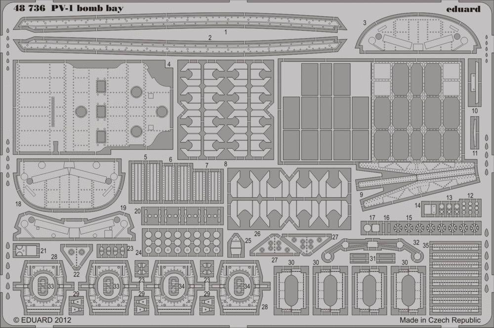 Eduard PV-1 bomb bay (Revell)