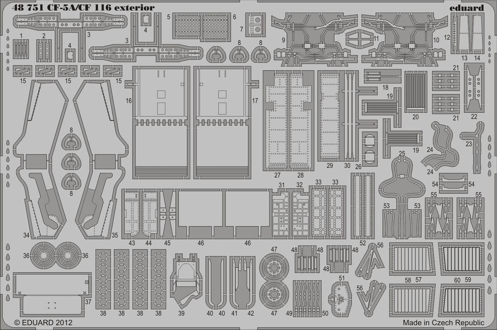 Eduard CF-5A/CF-116 exterior (Kinetic)