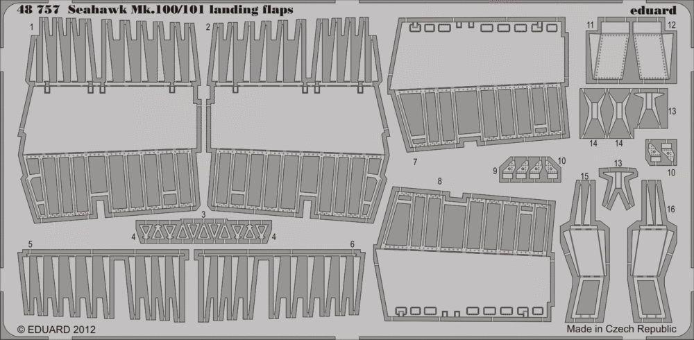 Eduard Seahawk Mk.100/101 landing flaps (Trumpeter)