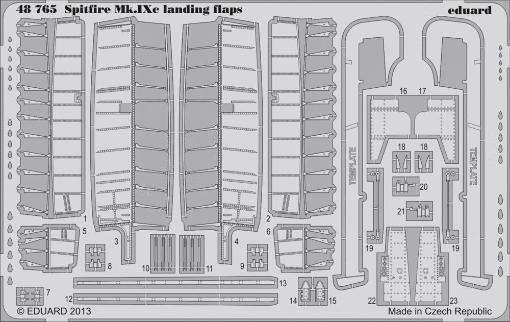 Eduard Spitfire Mk.IXc landing flaps (Eduard)