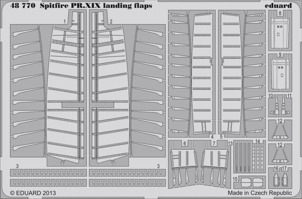 Eduard Spitfire PR.XIX landing flaps (Airfix)