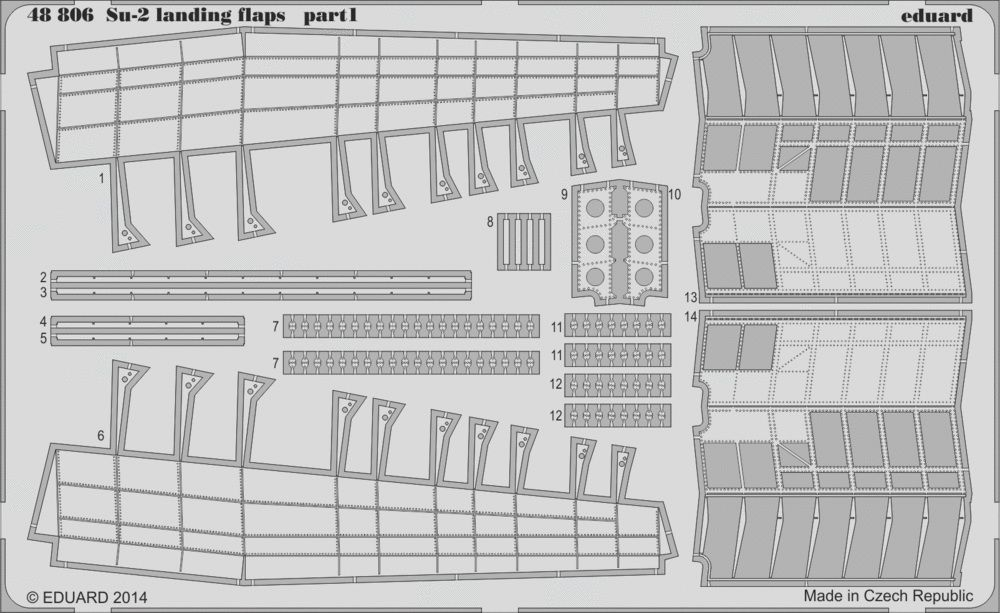Eduard Su-2 landing flaps (Zvezda)