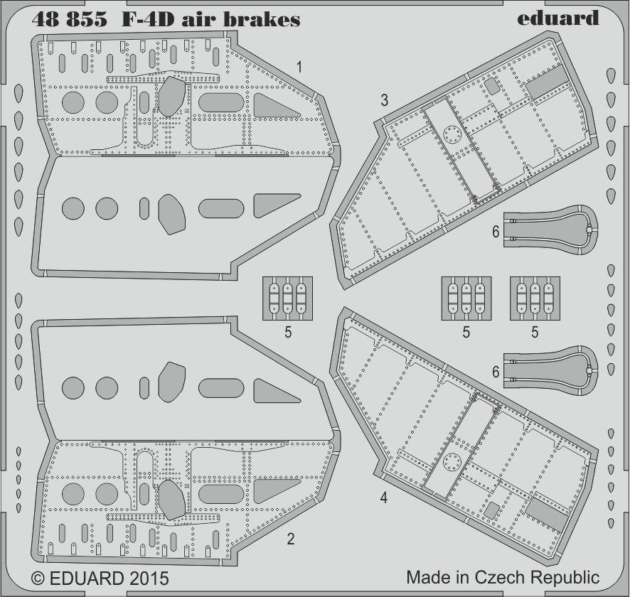 Eduard F-4D air brakes (Academy)