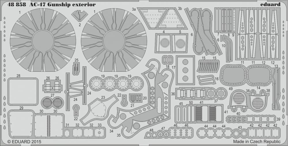 Eduard AC-47 Gunship exterior (Revell)