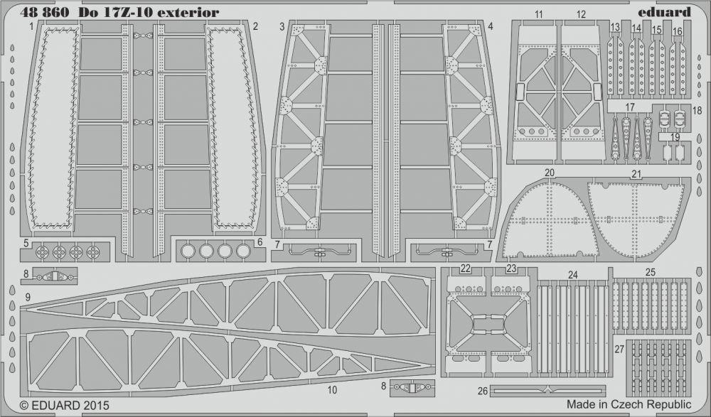 Eduard Do 17Z-10 exterior (Icm)