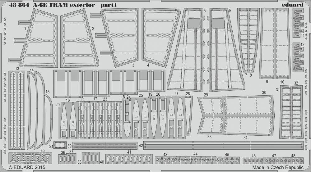 Eduard A-6E TRAM exterior (Hobby Boss)