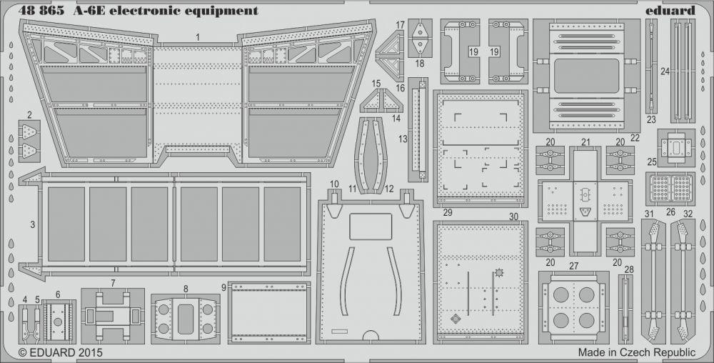 Eduard A-6E electronic equipment (Hobby Boss)