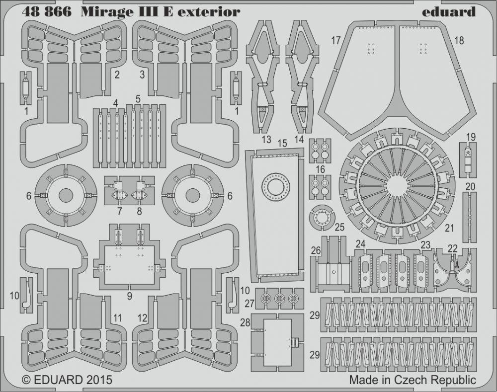 Eduard Mirage III E exterior (Kinetic)