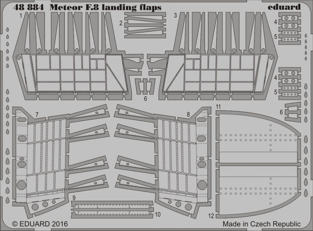 Eduard Meteor F.8 landing flaps (Airfix)