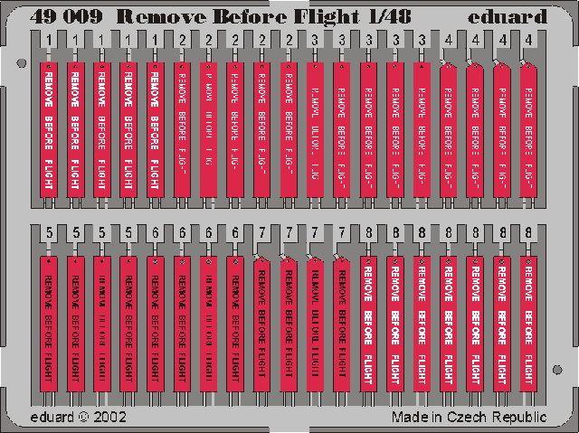 Eduard Remove Before Flight