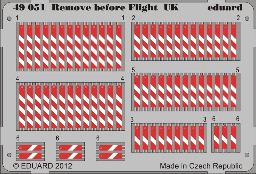 Eduard Remove before flight UK