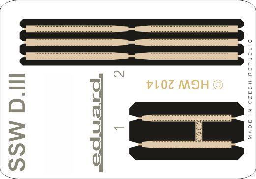 Eduard SSW D.III seatbelts FABRIC (Eduard)