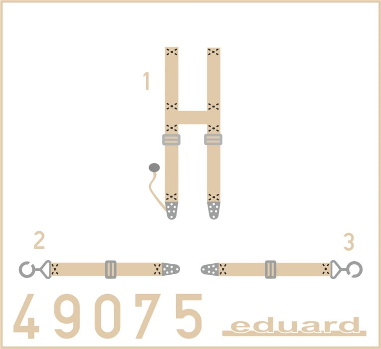 Eduard SSW D.III seatbelts SUPERFABRIC (Eduard)