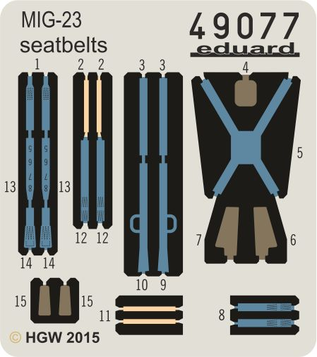 Eduard MiG-23 seatbelts FABRIC (Trumpeter)