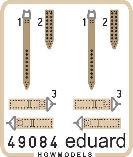 Eduard IJN seatbelts SUPERFABRIC