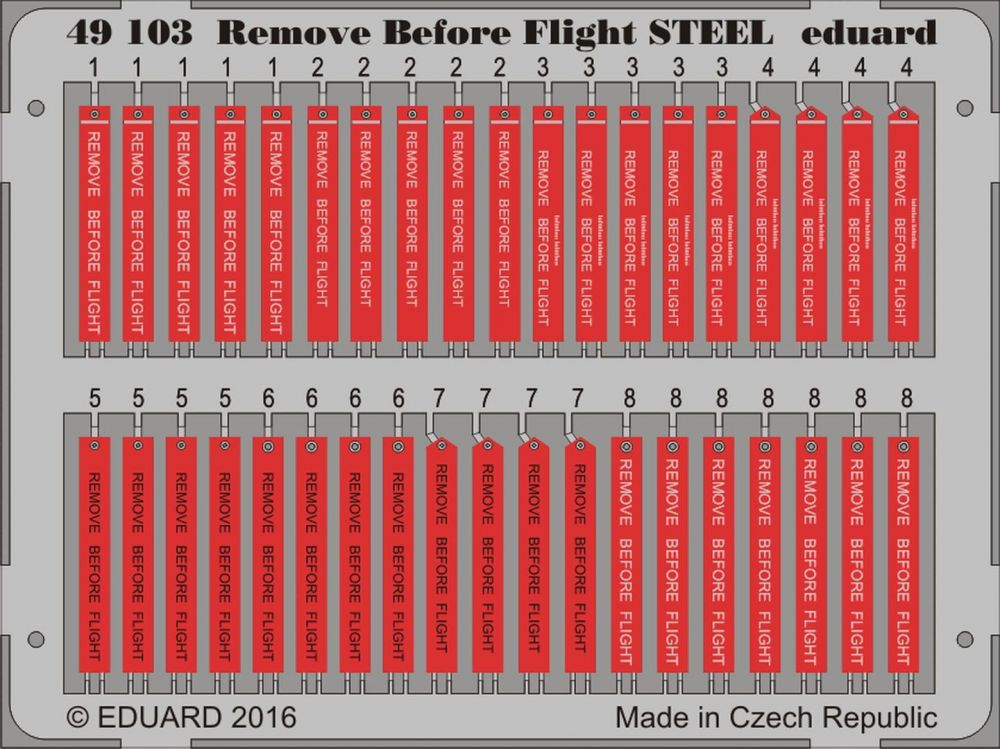 Eduard Remove Before Flight STEEL