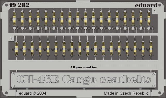 Eduard CH-46E/D seatbelts cargo type (Academy)