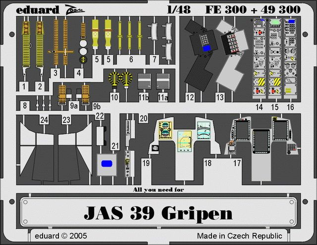 Eduard JAS-39 Gripen (Italeri)