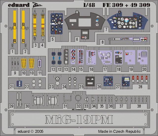 Eduard MiG-19PM (Trumpeter)