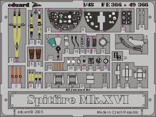 Eduard Spitfire  Mk.IXc/XVIe (Airfix)