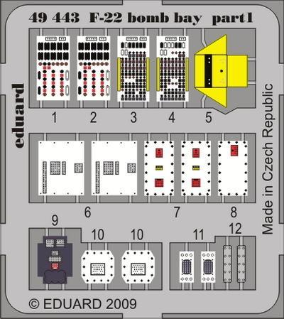 Eduard F-22 bomb bay (Academy)