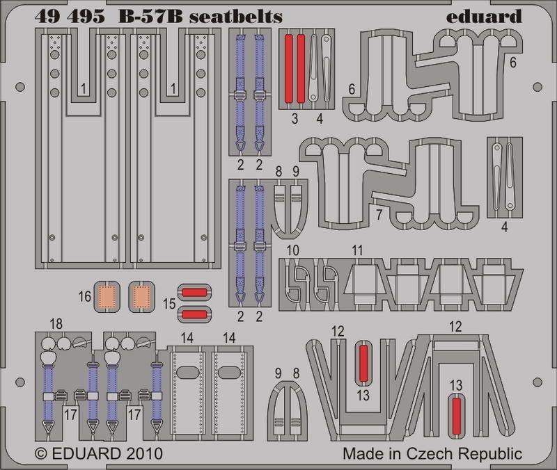 Eduard B-57B seatbelts (Airfix)