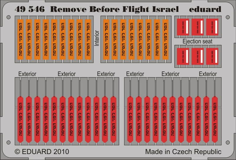 Eduard Remove Before Flight - Israel