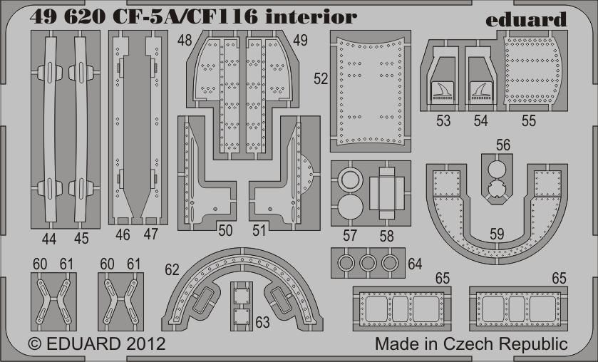 Eduard CF-5A/CF-116 interior S.A. (Kinetic)