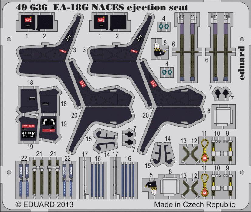 Eduard EA-18G NACES ejection seat (Italeri)