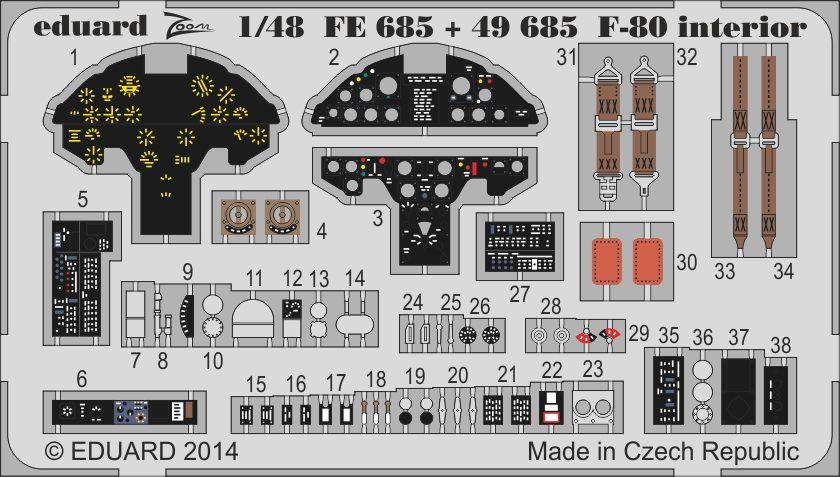 Eduard F-80 interior S.A. (Hobby Boss)