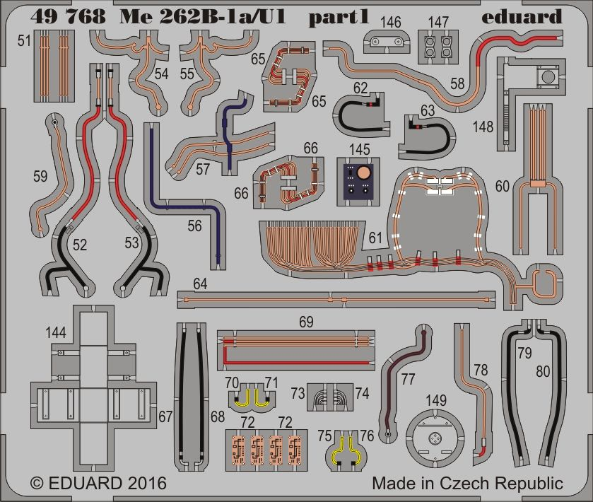 Eduard Me 262B-1a/U1 (Hobby Boss)