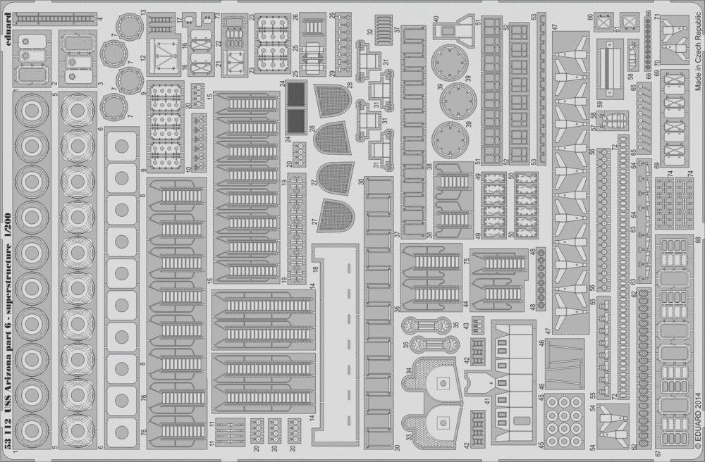 Eduard USS Arizona part 6 - superstructure (Trumpeter)