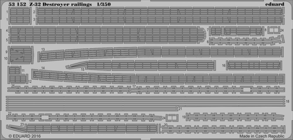 Eduard Z-32 destroyer railings (Dragon)
