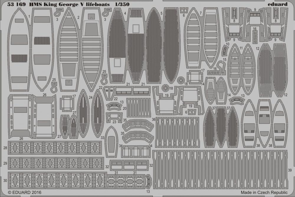 Eduard HMS King George V lifeboats (Tamiya)