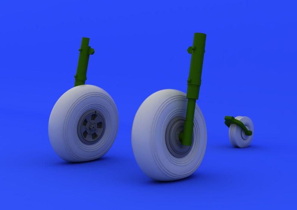 Eduard Typhoon wheels (AIRFIX)