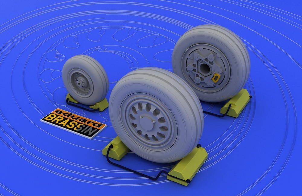 Eduard F-16 late wheels (KINETIC)