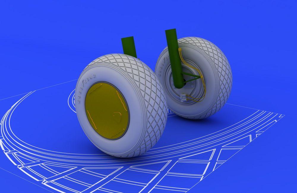 Eduard PV-1 wheels (REVELL)