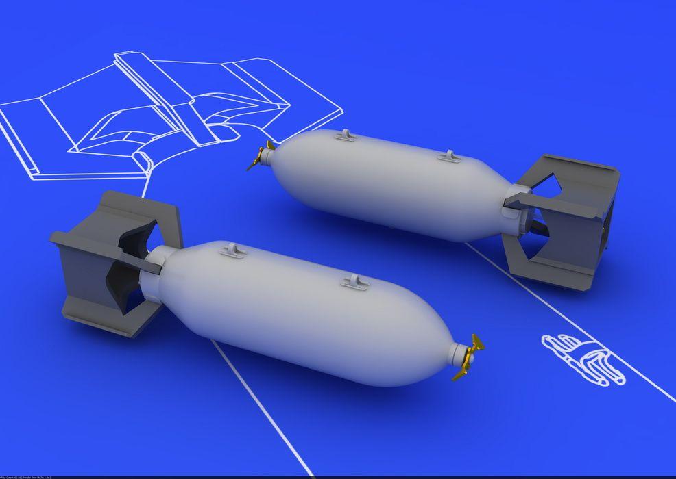 Eduard US 250lb bombs (2 pcs)