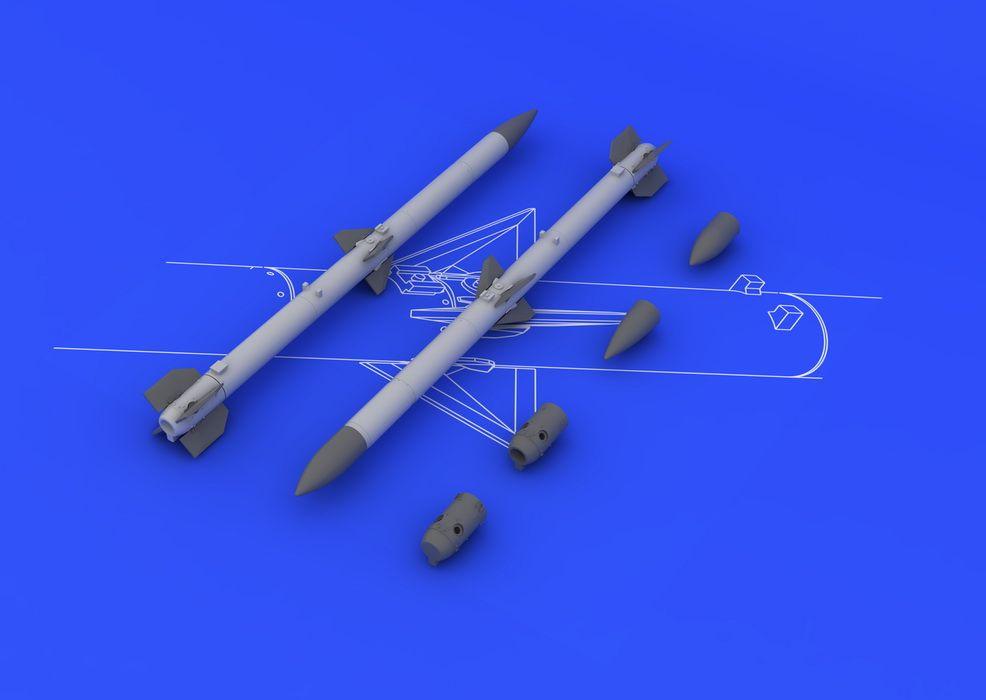 Eduard AIM-120C AMRAAM (2pcs)