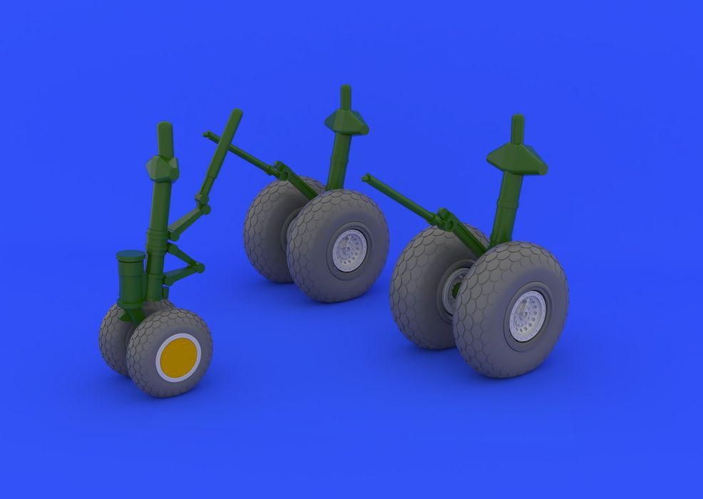 Eduard B-29 wheels (REVELL)