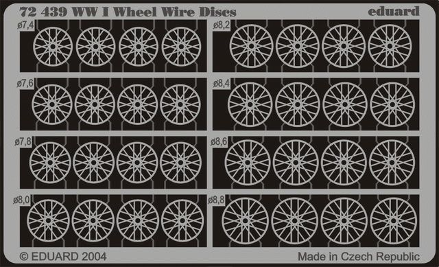 Eduard WWI Wheel Wire Discs